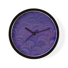 Purple Fanfair Wall Clock