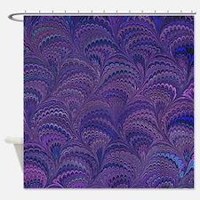 Purple Fanfair Shower Curtain
