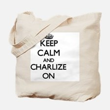 Keep Calm and Charlize ON Tote Bag