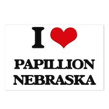 I love Papillion Nebraska Postcards (Package of 8)