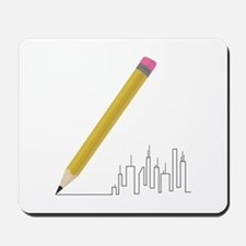 Cityscape Sketch Mousepad