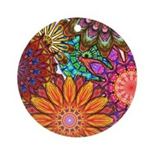 Funky Flowers Ornament (Round)