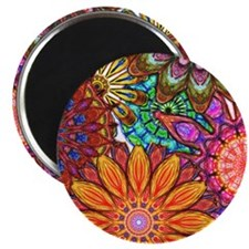 Funky Flowers Magnets