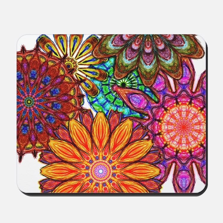 Funky Flowers Mousepad