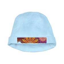 Funky Flowers baby hat