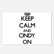 Keep Calm and Cindy ON Postcards (Package of 8)