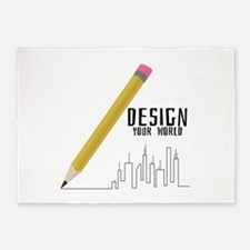 Design Your World 5'x7'Area Rug