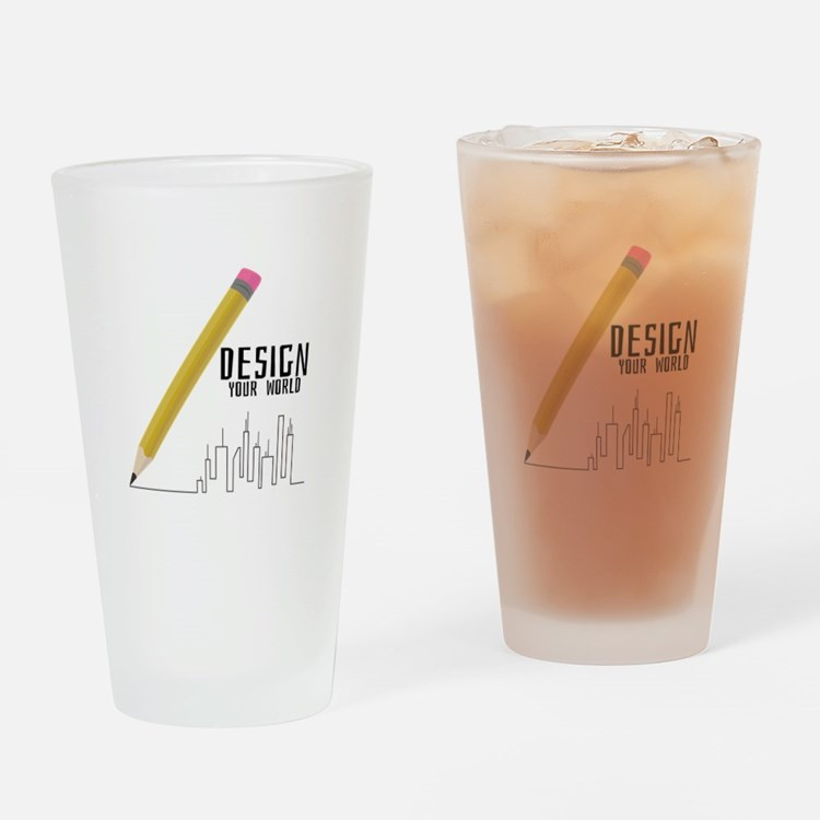 Design Your World Drinking Glass