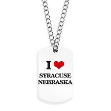 I love Syracuse Nebraska Dog Tags