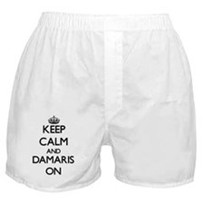 Keep Calm and Damaris ON Boxer Shorts
