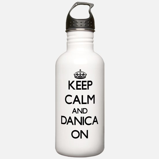 Keep Calm and Danica O Sports Water Bottle