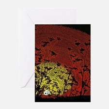 Bloody Sunrise Greeting Cards