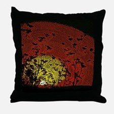 Bloody Sunrise Throw Pillow