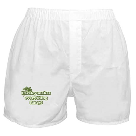 Parsley Makes Everything Fancy Boxer Shorts