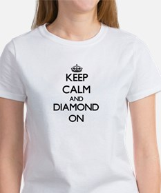 Keep Calm and Diamond O Women's Cap Sleeve T-Shirt