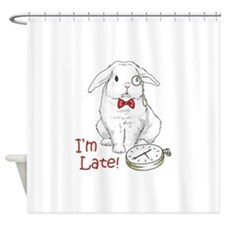 IM LATE Shower Curtain