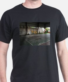 Basketball Court Art T-Shirt