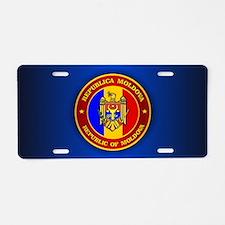 Moldova Medallion Aluminum License Plate