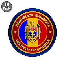 """Moldova Medallion 3.5"""" Button (10 pack)"""