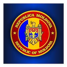 "Moldova Medallion Square Car Magnet 3"" x 3"""