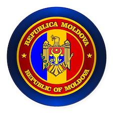 Moldova Medallion Round Car Magnet