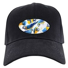 Blue and Gold Macaw Baseball Hat