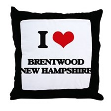 I love Brentwood New Hampshire Throw Pillow