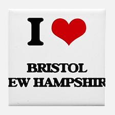 I love Bristol New Hampshire Tile Coaster