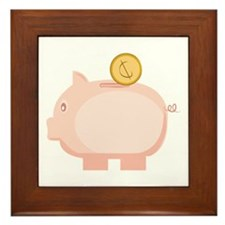 Coin in Piggy Framed Tile