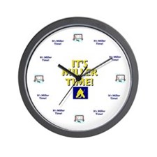 Unique Miller time Wall Clock