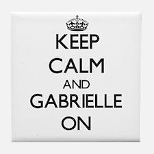 Keep Calm and Gabrielle ON Tile Coaster