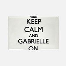 Keep Calm and Gabrielle ON Magnets