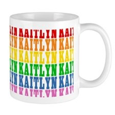 Rainbow Name Pattern Mug