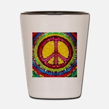 Tie Dyed Peace Sign Shot Glass
