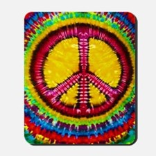 Tie Dyed Peace Sign Mousepad
