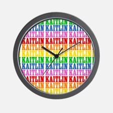 Rainbow Name Pattern Wall Clock