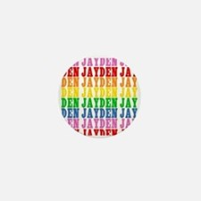 Rainbow Name Pattern Mini Button