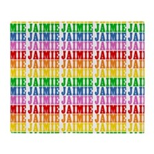 Rainbow Name Pattern Throw Blanket