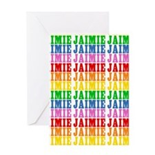 Rainbow Name Pattern Greeting Card