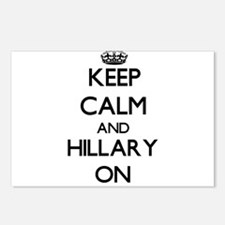 Keep Calm and Hillary ON Postcards (Package of 8)