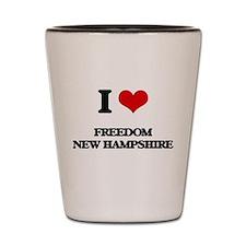 I love Freedom New Hampshire Shot Glass