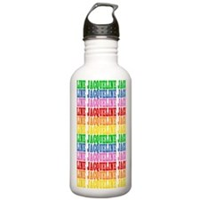 Rainbow Name Pattern Water Bottle
