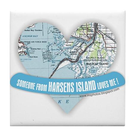 Harsens Island Tile Coaster