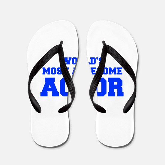 WORLD'S MOST AWESOME Actor-Fre blue 600 Flip Flops