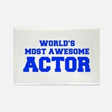 WORLD'S MOST AWESOME Actor-Fre blue 600 Magnets