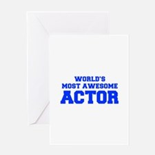 WORLD'S MOST AWESOME Actor-Fre blue 600 Greeting C