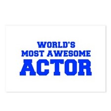 WORLD'S MOST AWESOME Actor-Fre blue 600 Postcards