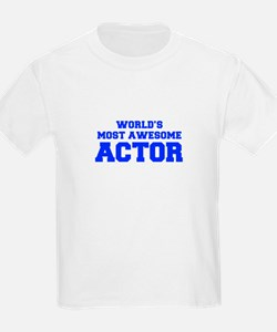WORLD'S MOST AWESOME Actor-Fre blue 600 T-Shirt