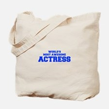 WORLD'S MOST AWESOME Actress-Fre blue 600 Tote Bag