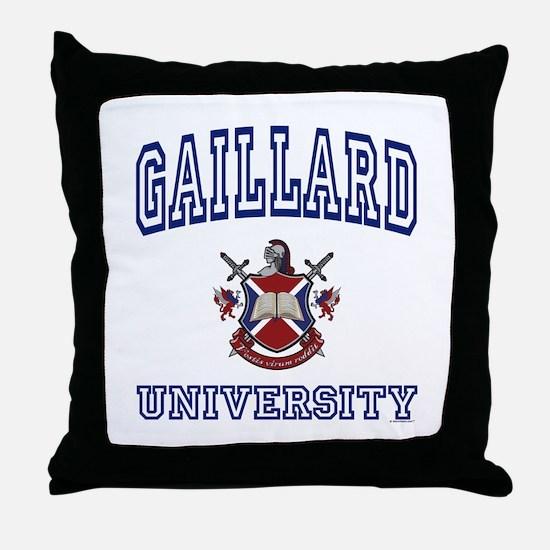 GAILLARD University Throw Pillow